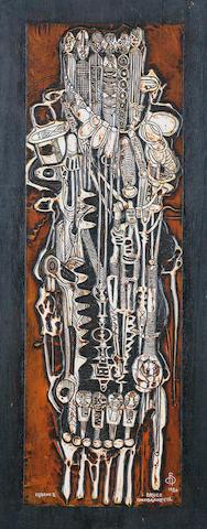 Bruce Onobrakpeya (Nigerian, born 1932) 'Egbene II'