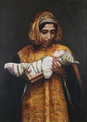 Sandra Christou (born 1959) Portrait of a Yemenite mother
