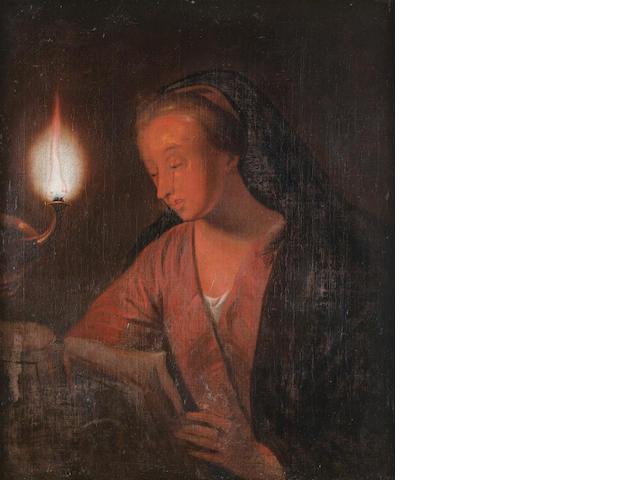 Follower of Godfried Schalcken (Dordrecht 1643-1706 The Hague) The Penitent Magdalen