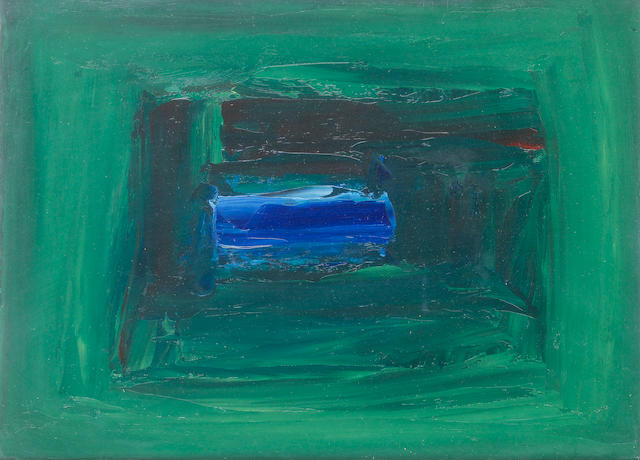 Séan McSweeney (Irish, born 1935) Blue Pool 25.5 x 35.5 cm. (10 x 14 in.)