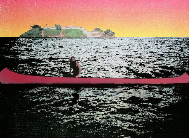 Peter Doig (British, born 1959) Canoe Screenprint in colours, 2000, on 300 gsm Somerset tub, signed, dated and numbered 267/300 in pencil, printed by Coriander Studios, London, 735 x 1000 mm (29 x 39 3/8 in)(SH) (unframed)