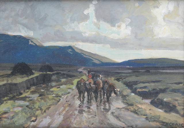 James Humbert Craig (Irish, 1878-1944) Altnabrocky, Co. Mayo 30.5 x 43 cm. (12 x 17 in.)