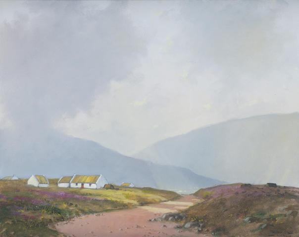 Padraig Lynch (Irish, born 1940) Sunlit landscape 40 x 50.5 cm. (15 3/4 x 20 in.)