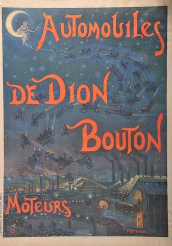 A De Dion Bouton poster after h&b,
