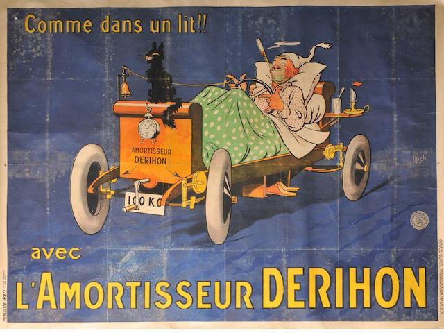 A Derihon shock absorbers poster,