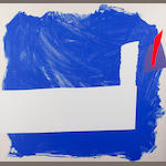 Sandra Blow, R.A. (British, 1925-2006) Side Effect Blue Screenprint in colours, 1993/94, on wove, signed and numbered 27/50 in pencil, 1220 x 1222mm (47 x 48in)(I)