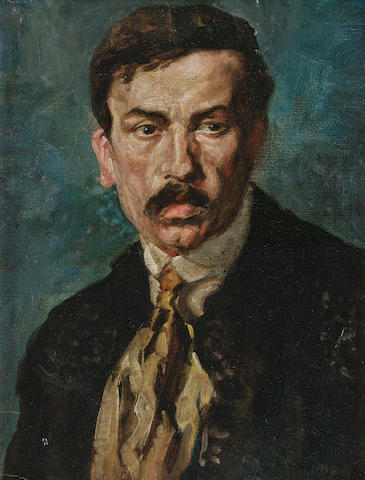 John Yeats- portrait of J M Synge