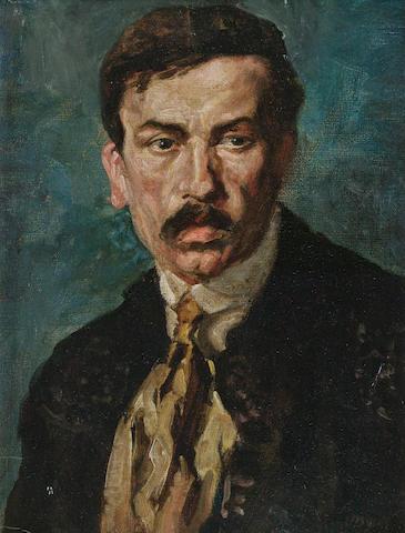 John Butler Yeats (Irish, 1839-1922) Portrait of a man 31 x 23.5 cm. (12 1/4 x 9 1/4 in.)