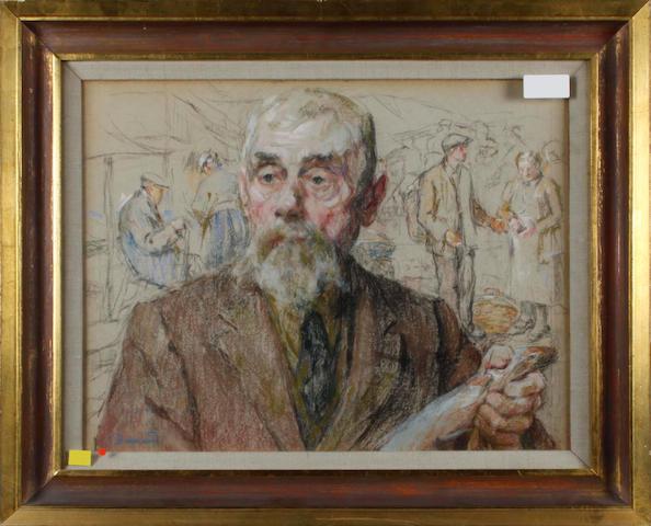 Follower of Pierre Bonnard (French, 1867-1947) A fish vendor