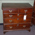 A George II oak chest of drawers