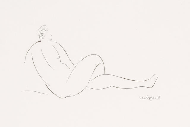 After Amedeo Modigliani (Italian 1884-1920) Nue Couchée de dos Etching, on wove, 100 x 150mm (3 15/16 x 5 7/8in)(PL)(unframed)