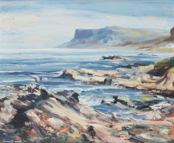 Kenneth Webb (Irish, born 1927) Fair Head, Ballycastle 51 x 61 cm. (20 x 24 in.)