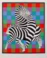 Victor Vasarely (Hungarian, 1906-1997) Zebra Zambo Screenprint in colours, on wove, signed in pencil, numbered 77/250, 620 x 520 mm (24 1/2 x 20 1/2 in)(SH) (unframed)