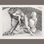 Michael Ayrton (British, 1921-1975) Minotaur Etching, on TH Saunders, signed in pencil, inscribed 'Proof IX/X', aside from the edition of 75, 395 x 540 mm (15 1/2 x 21 21/4 in)(PL)