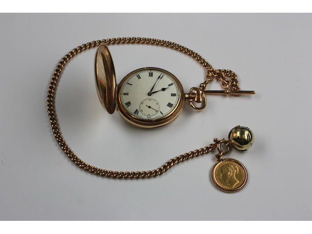 A 9ct full hunter pocket watch