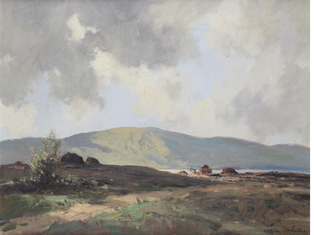 Maurice Canning Wilks R.U.A., A.R.H.A. (Irish, 1910-1984) Bogland at Dunlewey, Co. Donegal 49 x 64 cm. (19 1/4 x 25 1/4 in.)