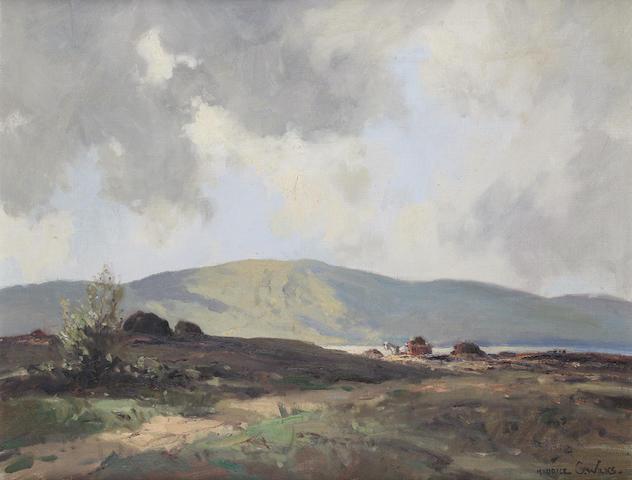 Maurice Canning Wilks R.U.A., A.R.H.A. (Irish, 1910-1984) Bogland at Dunlewey, Co. Donegal 49 x 64 cm. (19 1/4 x 25 1/4 in.)