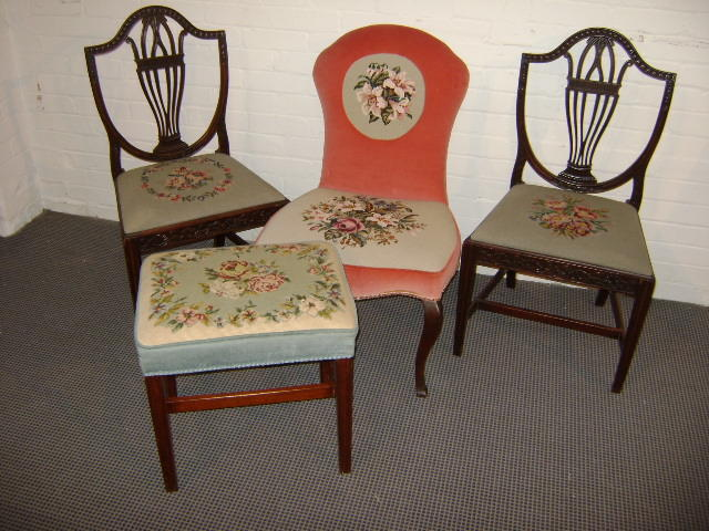 A pair of George III style mahogany chairs