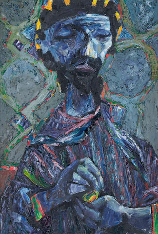Colin Middleton R.H.A. (Irish, 1910-1983) King David 52 x 34 cm. (20 1/2 x 13 1/4 in.)