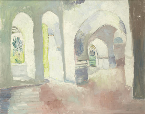 Freida Lock (South African, 1902-1962) Arab Arches, Zanzibar