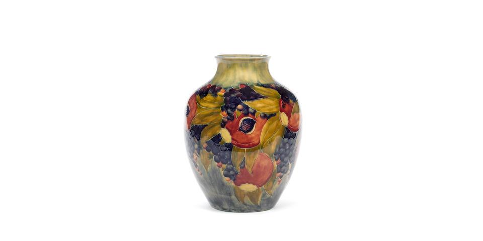 William Moorcroft 'Pomegranate' a Good Large Early Vase, 1913