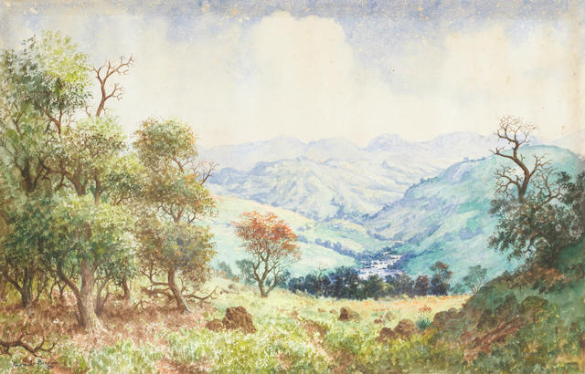 Gerard Bhengu (South African, 1910-1990) The Umkomaas Valley