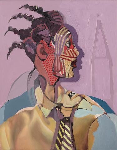 George (Kwesi Afedzi) Hughes (Ghanaian, born 1962) 'Masked' unframed