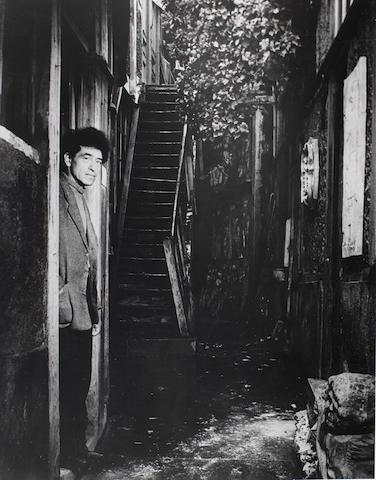 FOR FUTURE SALE Brassai, Giacometti a la porte de son atelier, reprint, signed
