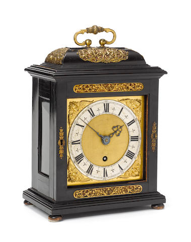A fine late 17th century ebony veneered quarter repeating bracket timepiece Thomas Tompion, London, number 53