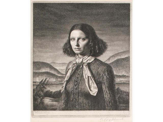 Gerald Leslie Brockhurst (British, 1891-1978) Dorette Etching, 1932, on wove, signed in pencil, 232 x 188 mm (9 1/8 x 7 3/4 in)(PL)