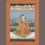 A female dancer Rajasthan, dated 1816