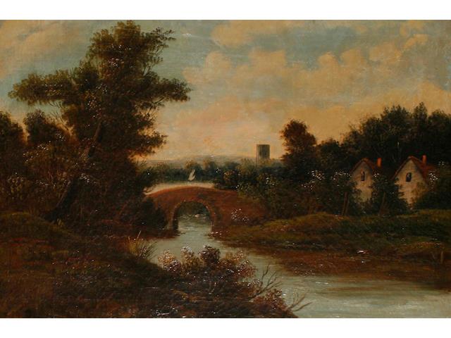 J. Wilson (British, 19th Century) 'River near Glencoe'; and 'The Edge of the Moor' (2)