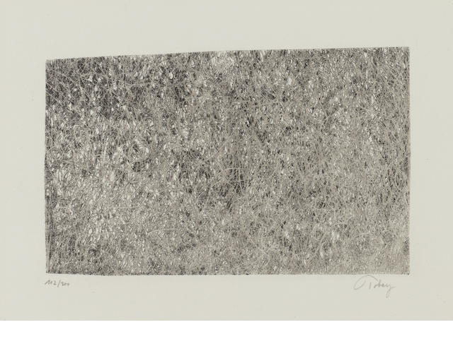 Mark Tobey (American, 1890-1976) Traces on Ice Lithograph, 1968, on wove, signed and numbered 112/300 in pencil (I)(unframed)