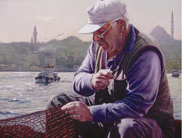 Mustafa Sekban (born 1950) Morning on the Golden Horn,