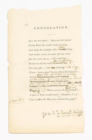BROWNING, ELIZABETH BARRETT (1806-1861, poet)