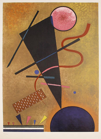 Wassily Kandinsky (Russian 1866-1944) Beruehrung Lithograph in colours, 1960, on BFK Rives, numbered 182/300 in pencil, with full margins, 618 x 436 mm (24 1/4 x 17 1/4 in)(I)