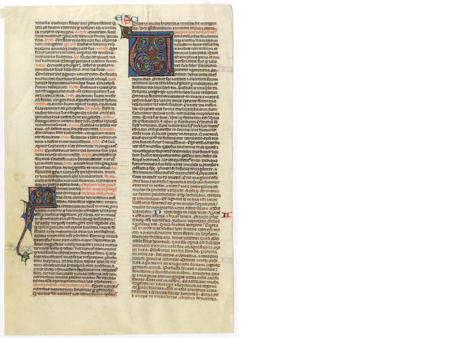 ILLUMINATED MANUSCRIPT LEAF