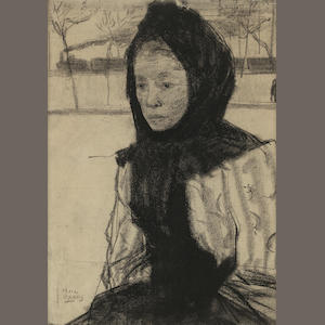 Isaac Israëls, Woman with a headscarf