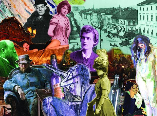 Bedri Baykam (born 1957) La Bohemia of Christiania (Hans Jaeger and the Others),