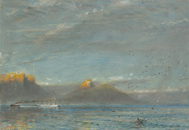 Albert Goodwin, RWS (British, 1845-1932) 'The Cape of Good Hope, Dawn'