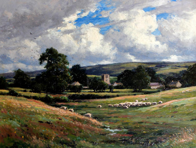 Reginald Aspinwall (British, 1858-1921) A Lancashire valley