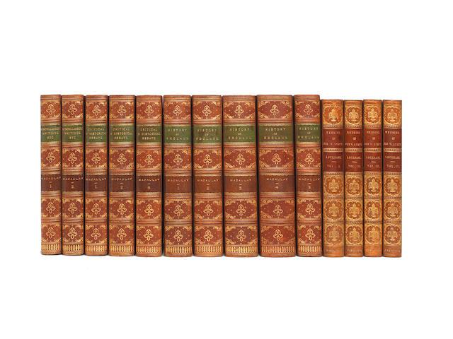 BINDINGS MACAULAY (THOMAS BABINGTON) Critical and Historical Essays