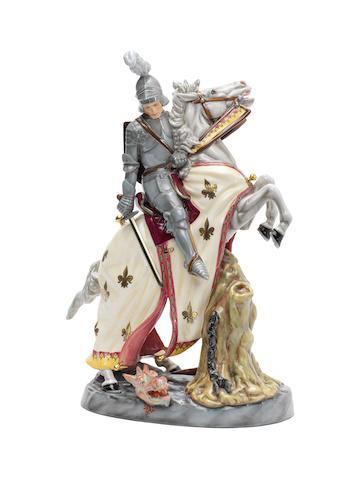 Doulton Burslem 'St George and the Dragon', HN2856, 1991