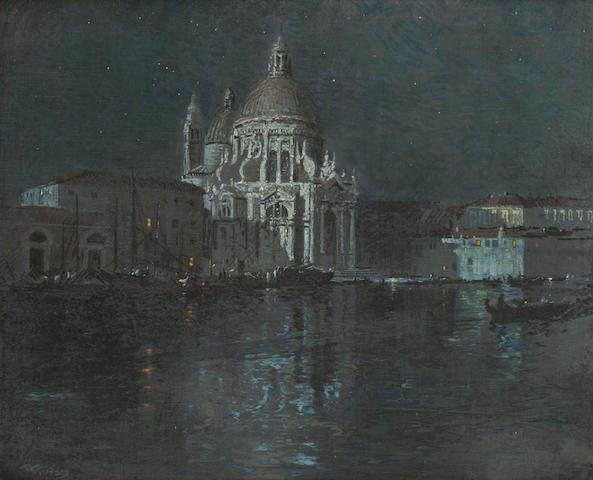 Robert Gwelo Goodman (South African, 1871-1939) Moonlight, Venice