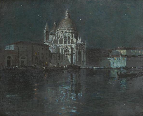 Robert Gwelo Goodman (South African, 1871-1939) Moonlight, Venice