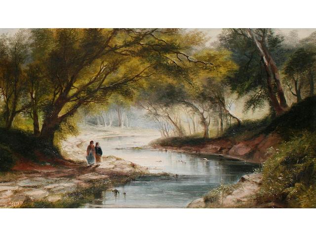 Sarah Louise Kilpack (British, born circa 1840-1909) Woodland scene