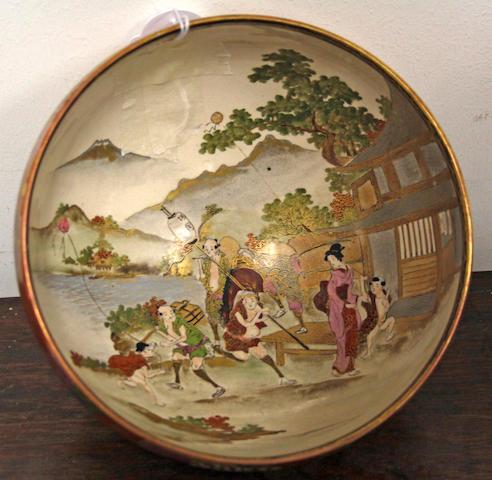 A Japanese Satsuma ware bowl,