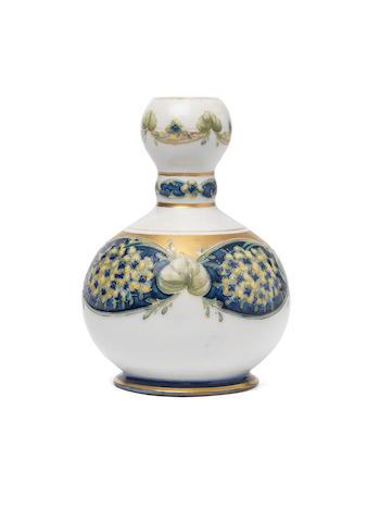William Moorcroft 'Lilac' a Macintyre Knopped-neck Vase, circa 1905