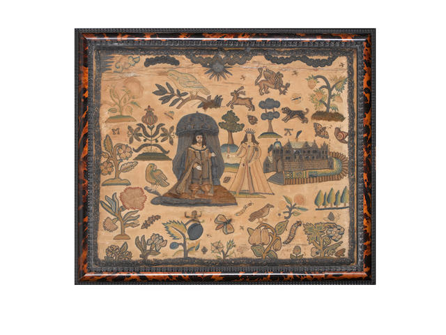 A needlework picture English, 17th Century