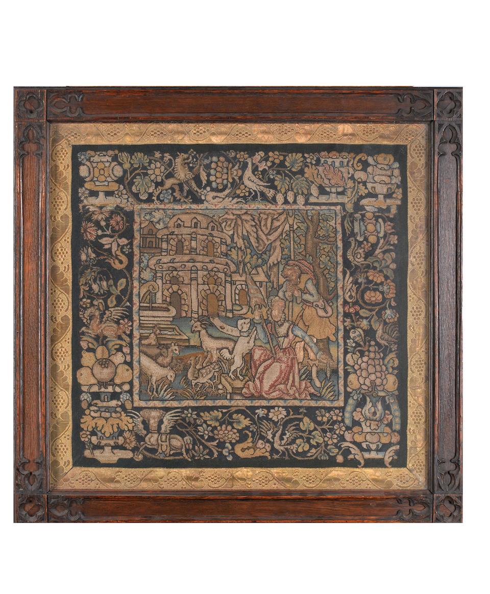 A pair of square panels Franco-Scottish, circa 1600
